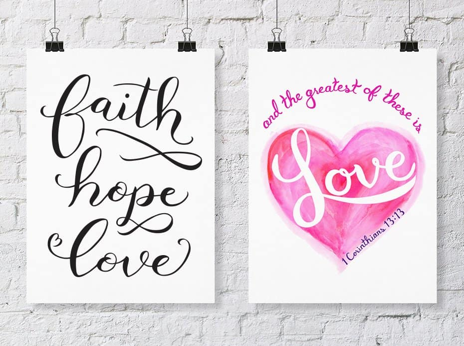 faith hope love art