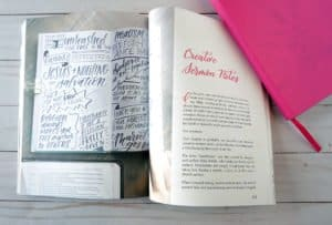Faith and Lettering book - sermon notes