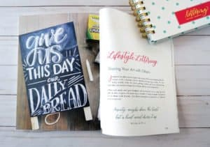 Faith and Lettering book - lifestyle lettering