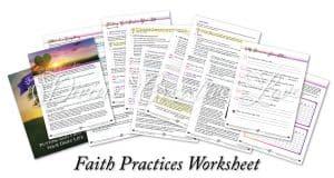 Focus on Jesus - faith practices worksheet