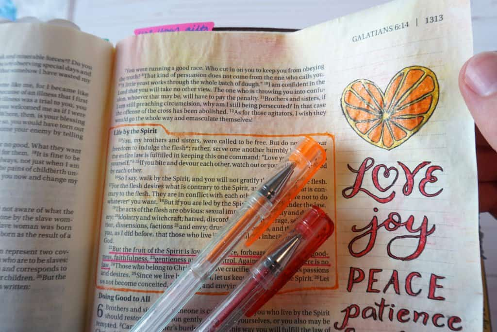 best pens for Bible journaling