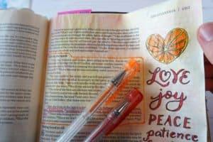 gel pens - Fruit of the Spirit