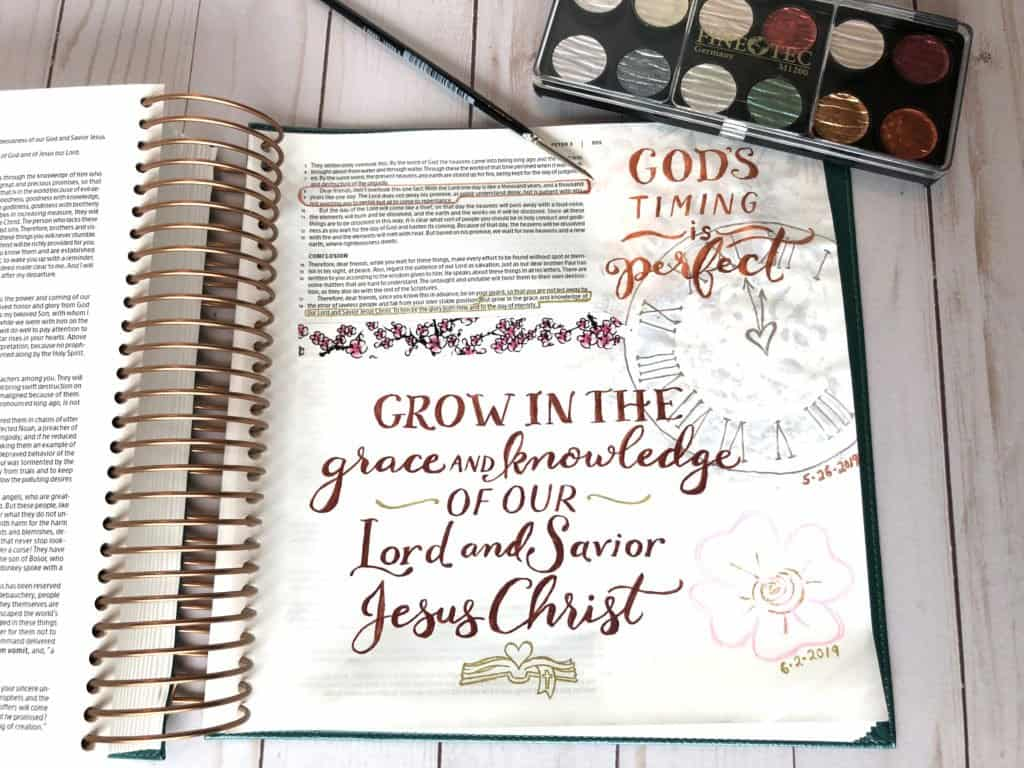 God's timing is perfect – Bible journaling