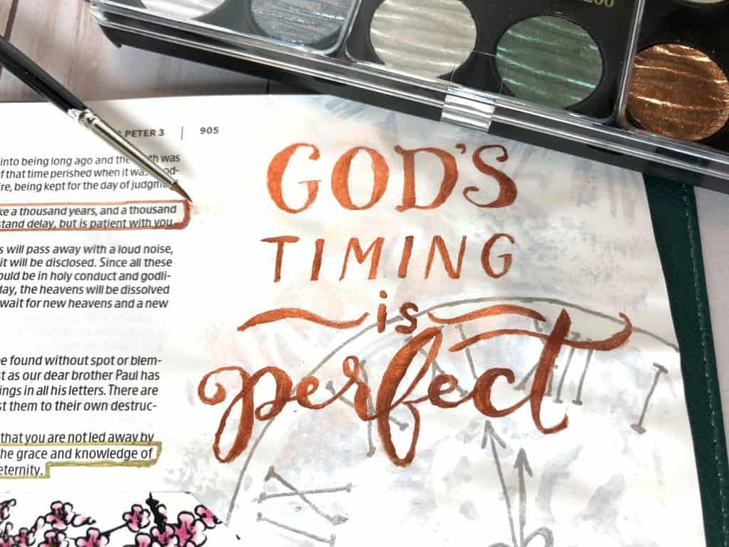 God's timing is always right – Bible journaling