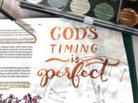 God's timing - metallic watercolor