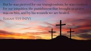 Isaiah 53:5 Bible verse
