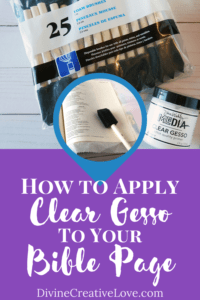 how to apply gesso in Bible journaling