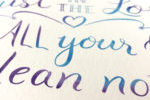 close up of Proverbs 3:5-6 print