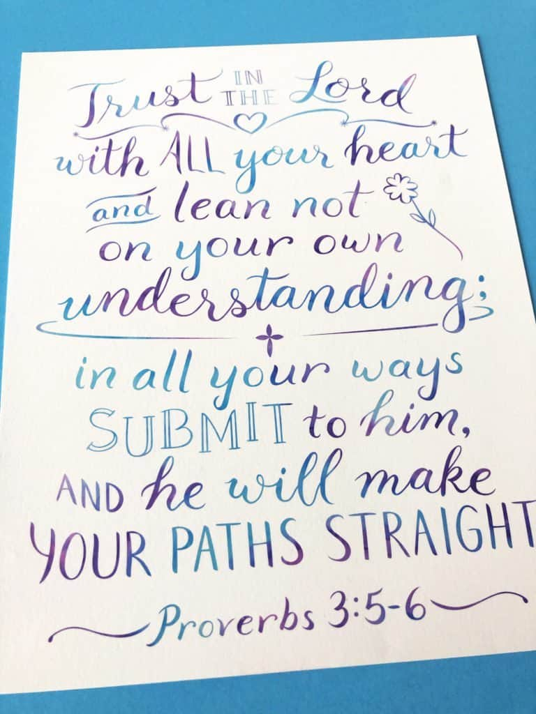 print of Proverbs 3:5-6