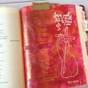 Bible journaling prompts - Jesus paid it all