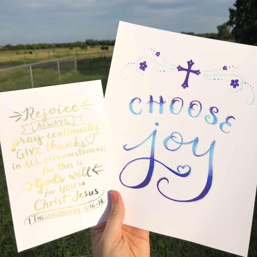 rejoice always - choose joy