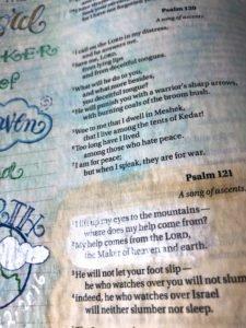 Bible journaling with gelatos
