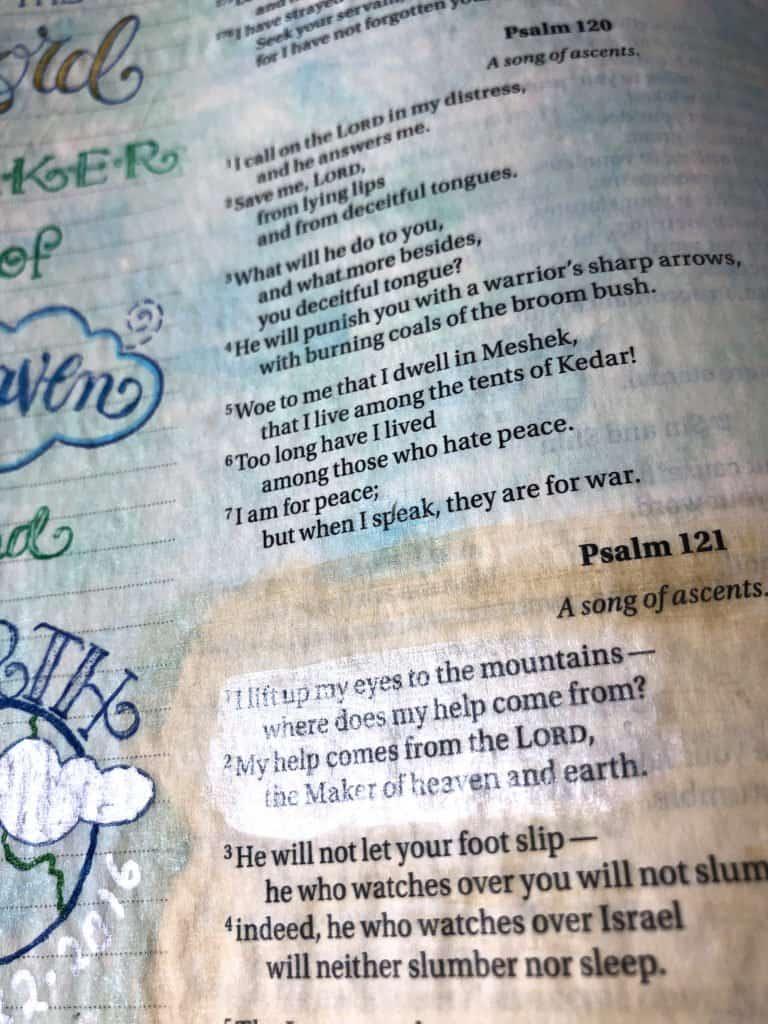 Bible journaling examples