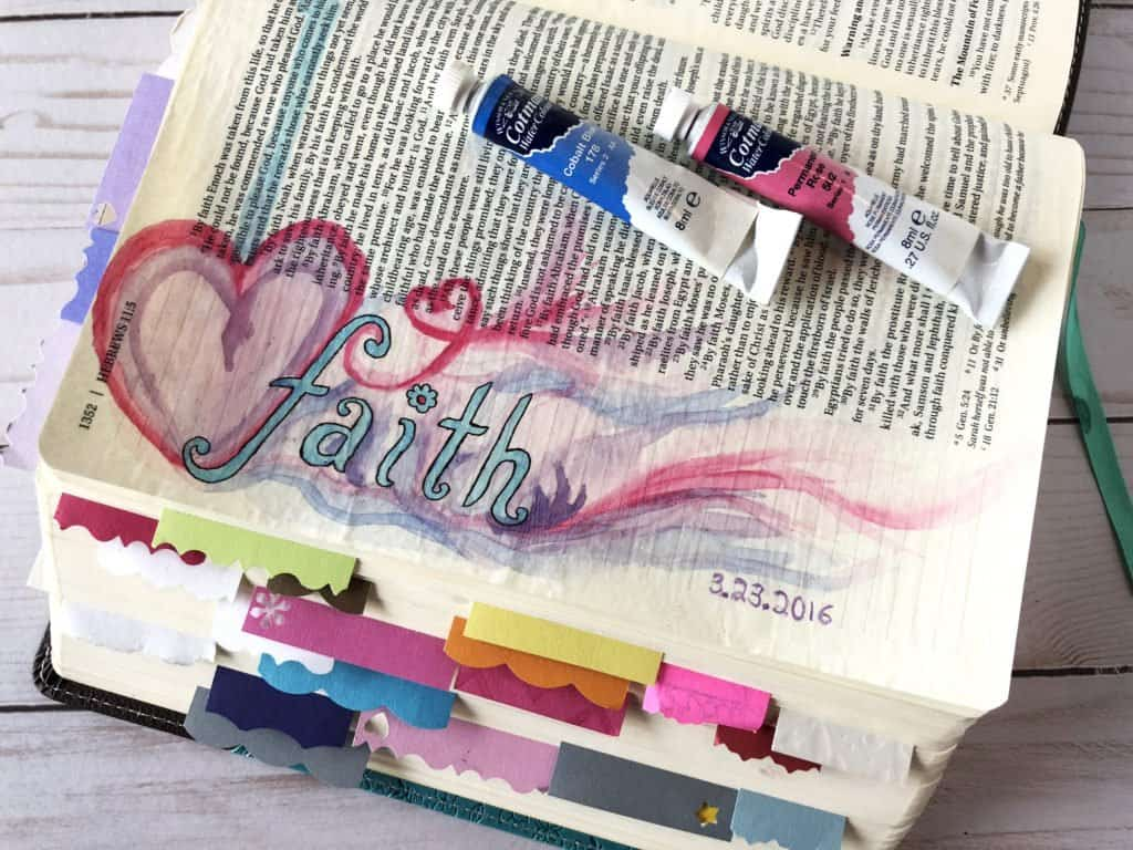 watercolor faith Bible journal