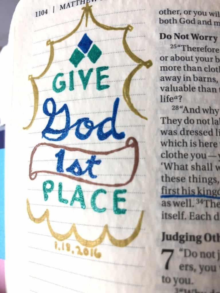 Give God 1st place