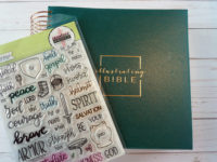 Illustrating Bible with stamp set