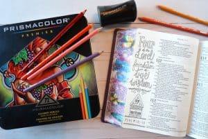 Inspire Praise Bible with Prismacolor Premiere Pencils