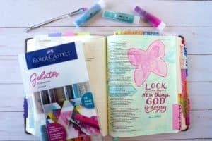 how to use gelatos in Bible journaling