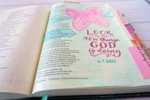 Bible journaling with gelatos - Isaiah 43:19
