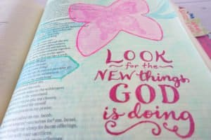 Bible journal - Isaiah 43:19 - close-up