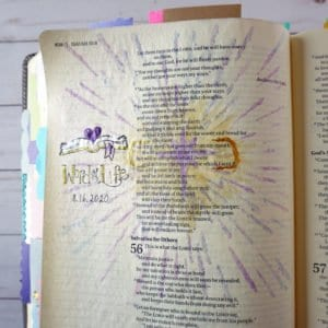 Bible journaling with stencils - Isaiah 55:11