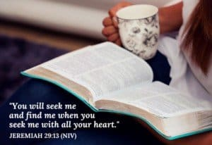 seek God with your whole heart