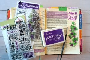 The True Vine Bible study and journaling page