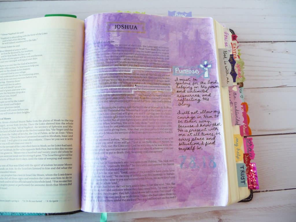 Joshua 1:9 Bible journaling