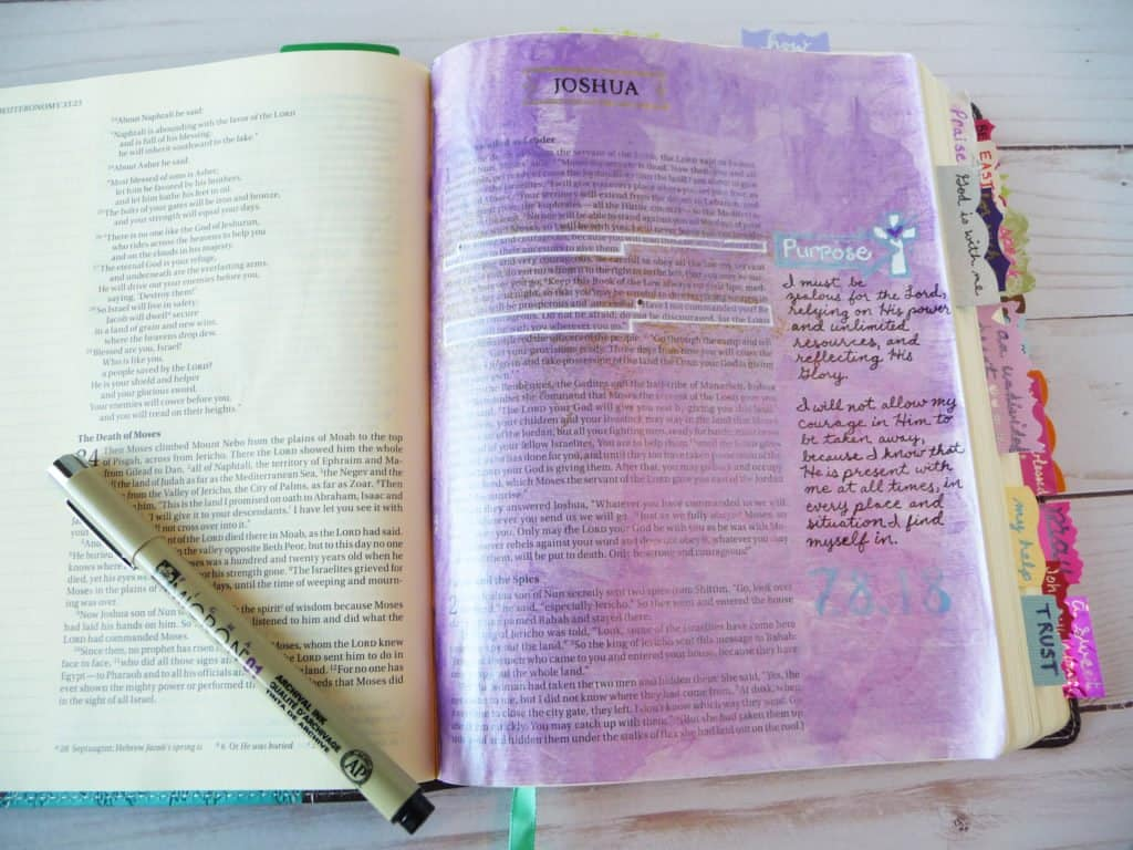 Bible journaling with Pigma Micron pens