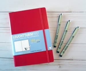 Leuchtturm1917 notebook for sermon notes