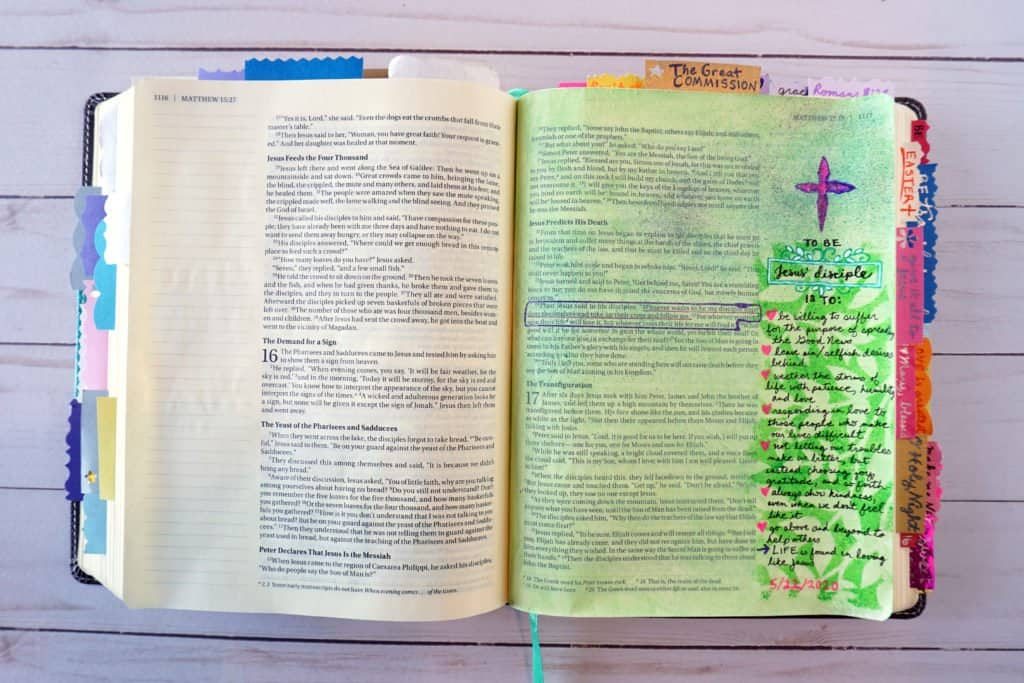 Bible journaling - Matthew 16:24-25