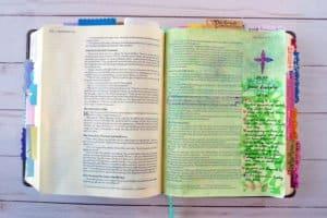 Bible journaling example - Matthew 16:24-25