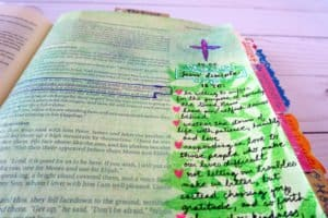 Bible journal page - what it means to be Jesus' disciple