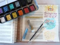 treasures in heaven Bible journaling page