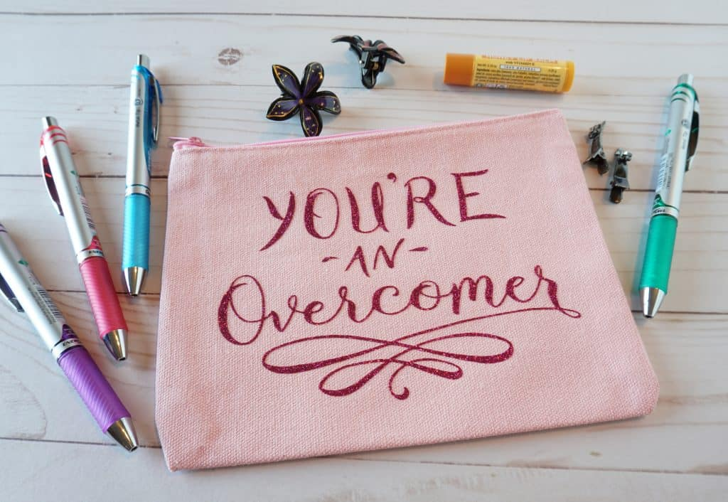 You're an Overcome cosmetic bag