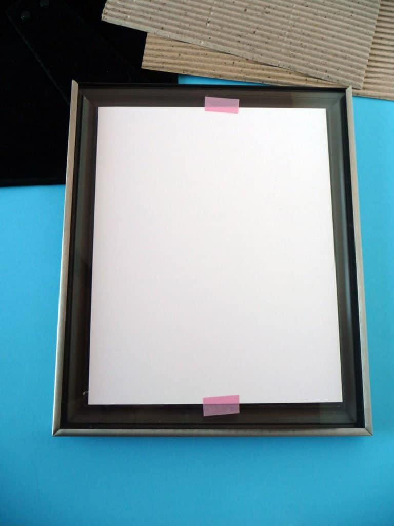 framing tip with washi tape