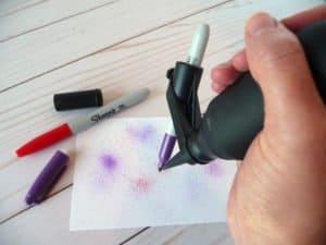 ink spritzer in action
