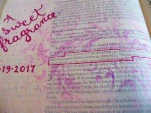 Bible journal - close up