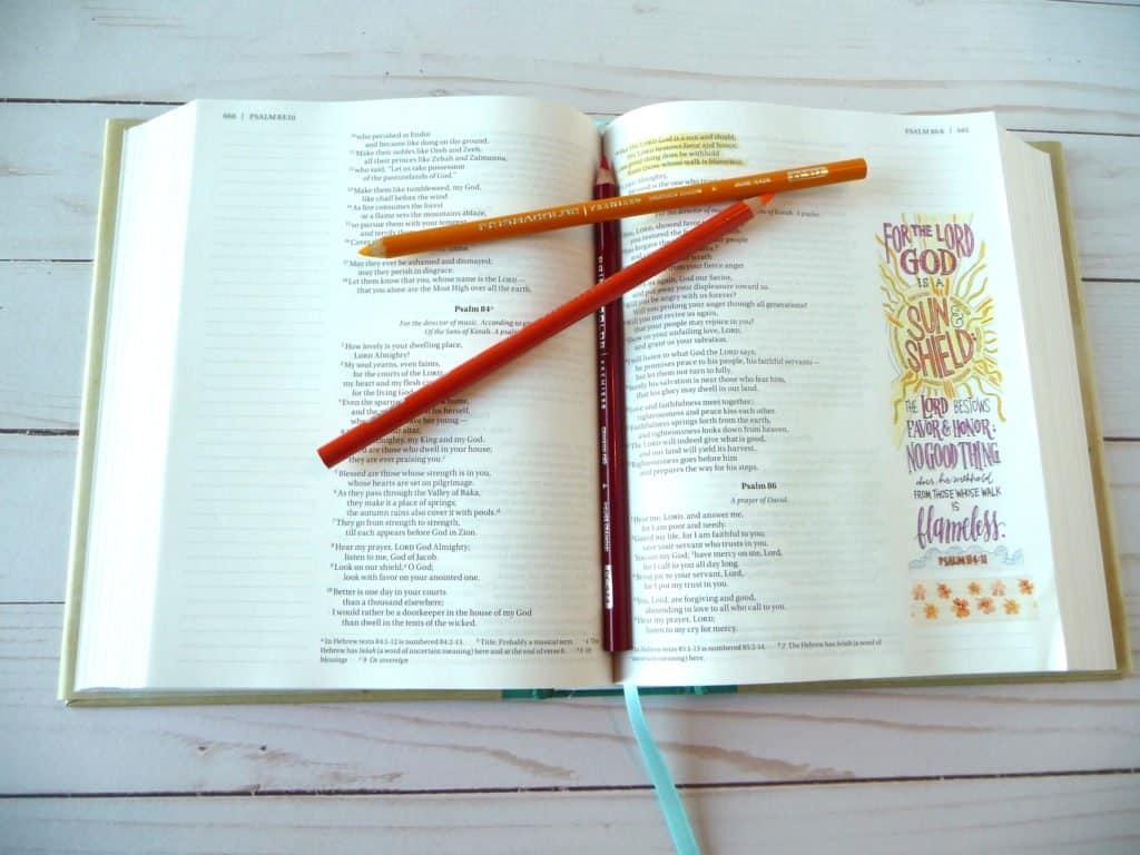 Beautiful Word Coloring Bible and Prismacolor Premier pencils