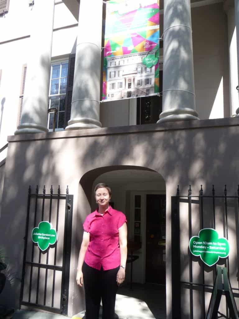 me in front of the Juliette Low Birthplace