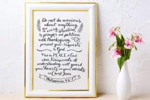 Philippians 4:6-7 pray