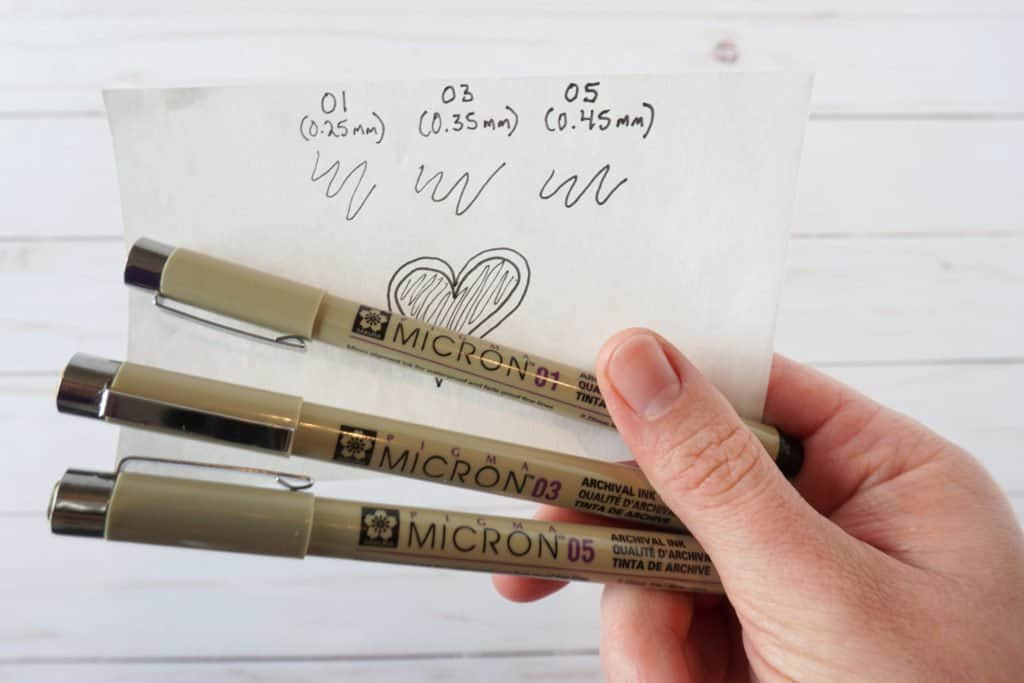 Pigma Micron pens - set of three