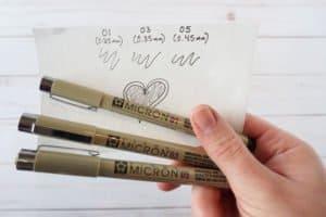 Pigma Micron pens - set of three