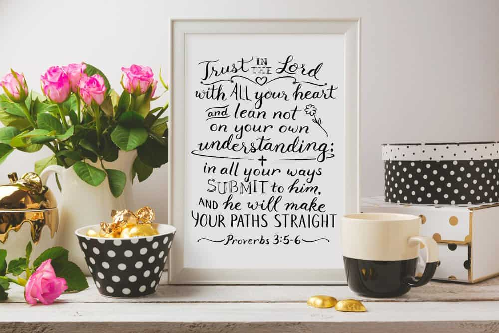 Proverbs 3:5-6 Trust in the Lord