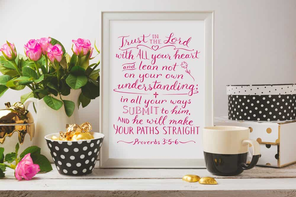 Proverbs 3:5-6 art