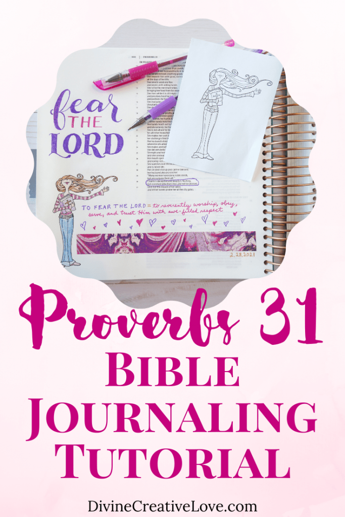 Proverbs 31 Bible journaling tutorial