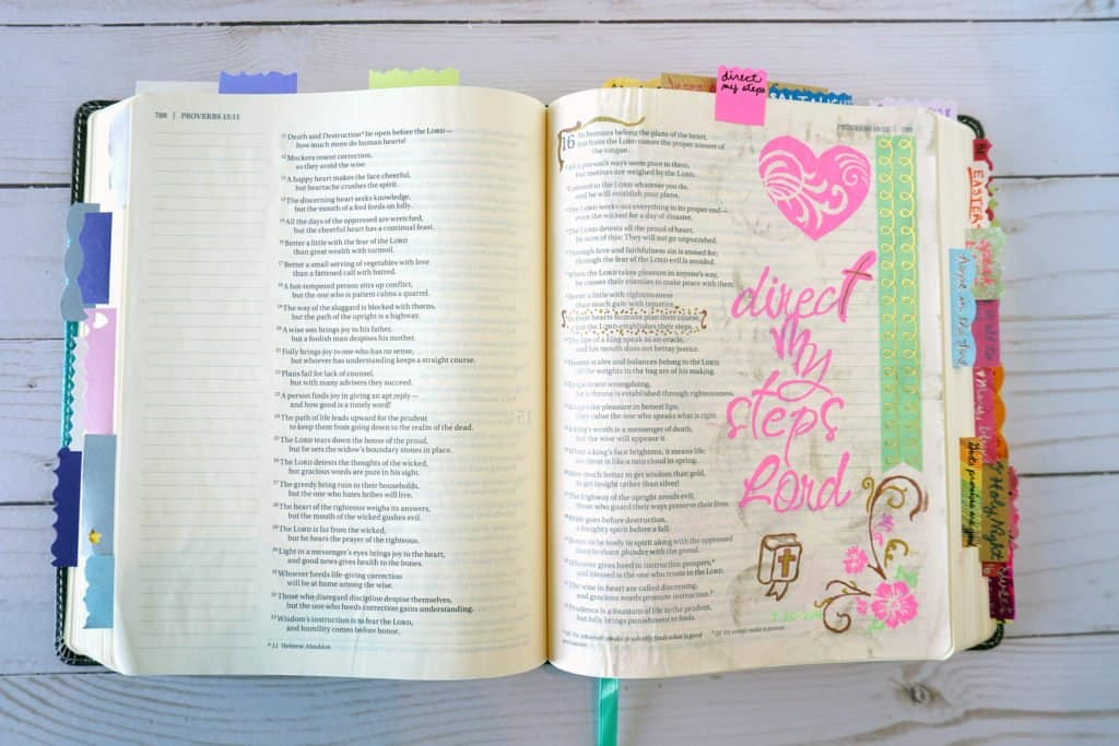 Proverbs Bible journaling example