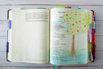 Bible journaling with colored pencils - Psalm 1:2-3