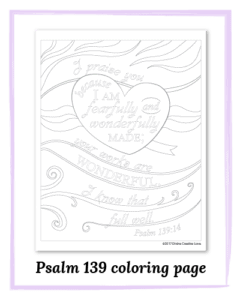 Psalm 139 coloring page free download