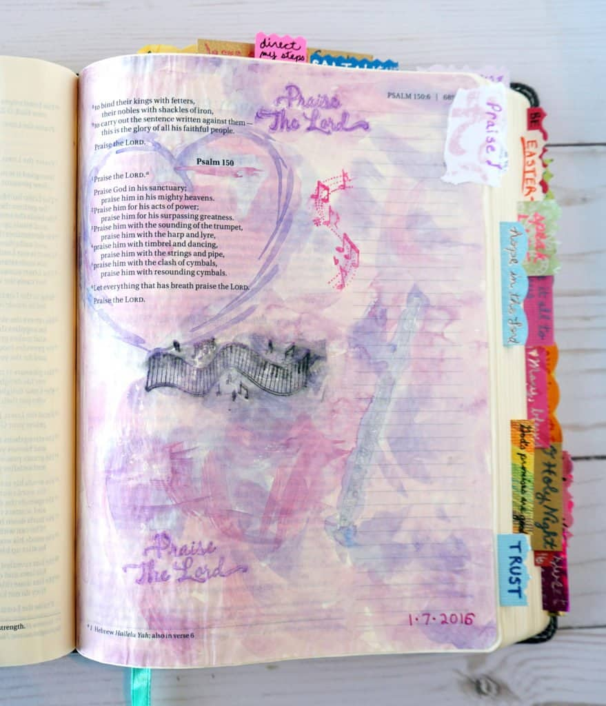 Psalm 150 - how to start Bible journaling